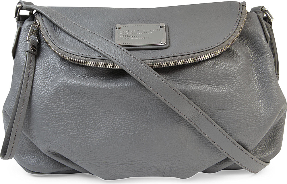 48dda44c5b21 Marc By Marc Jacobs Classic Q Natasha Leather Crossbody Bag in Gray ...