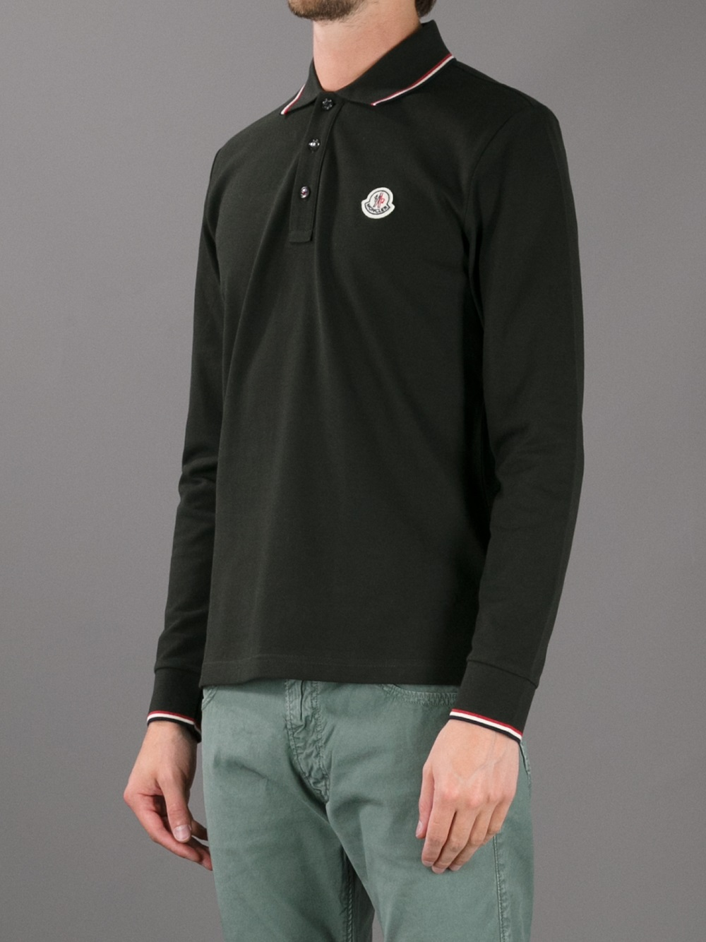 moncler long sleeve polo sale