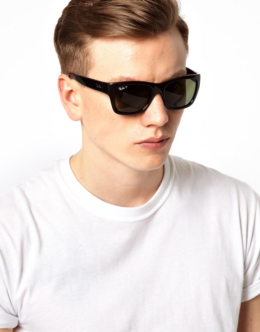 c4dbf63e0 Ray-Ban Polarized Wayfarer Sunglasses in Black for Men - Lyst