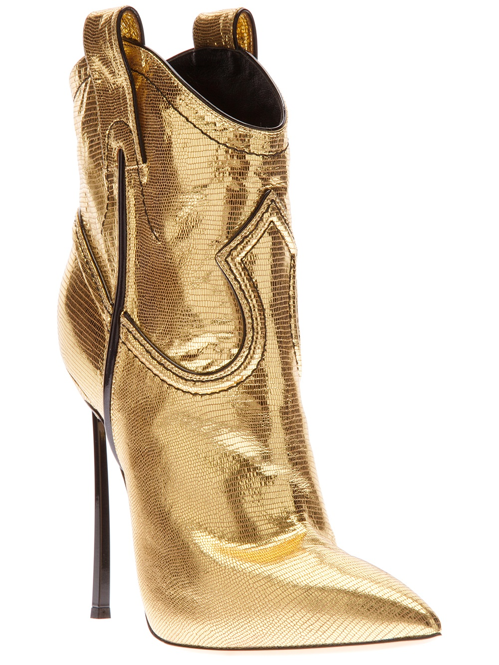 Metallic Gold Boots Women S Shoes