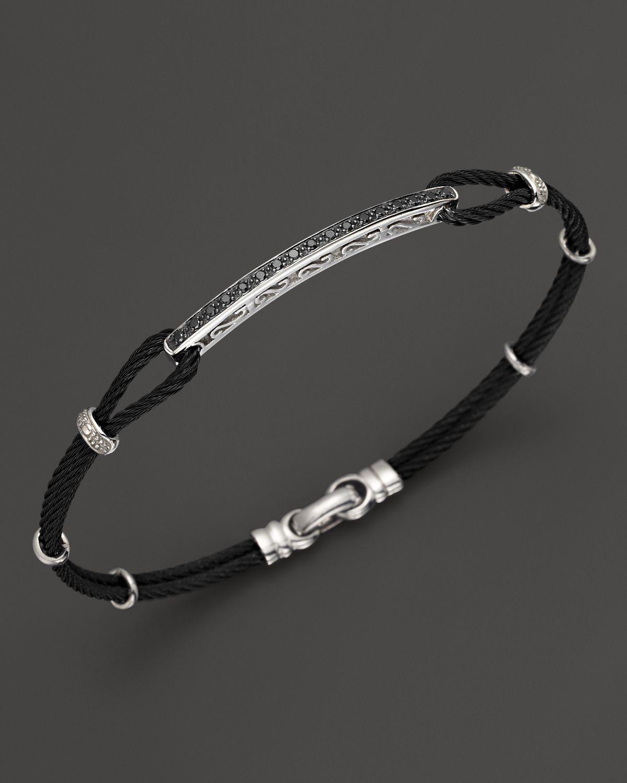 Charriol Celtic Noir Bracelet With 18k White Gold