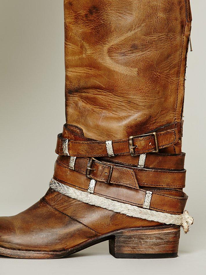 Lyst Freebird By Steven Drazen Tall Boot In Brown