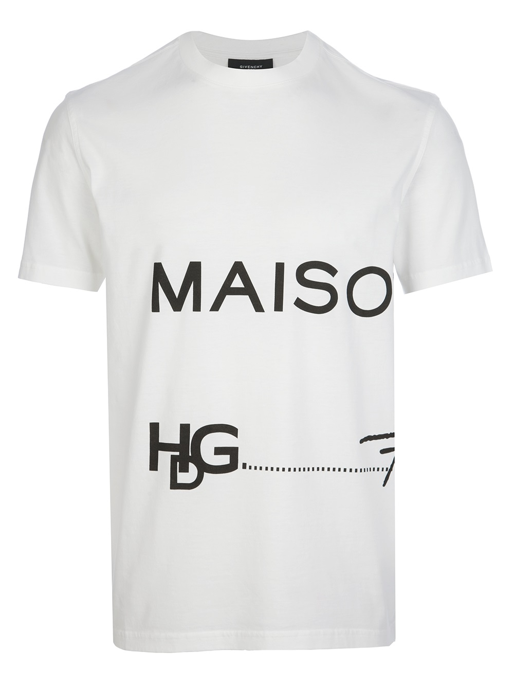 Lyst givenchy hdg t shirt in white for men for Givenchy t shirt man