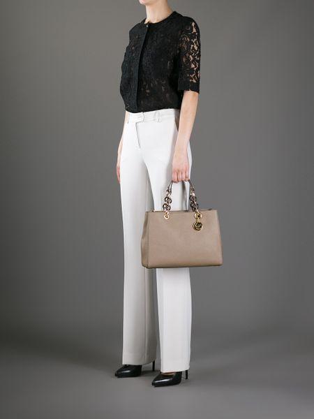 Uk Michael Kors Cynthia Totes - Bags Michael By Michael Kors Cynthia Tote Gold 1