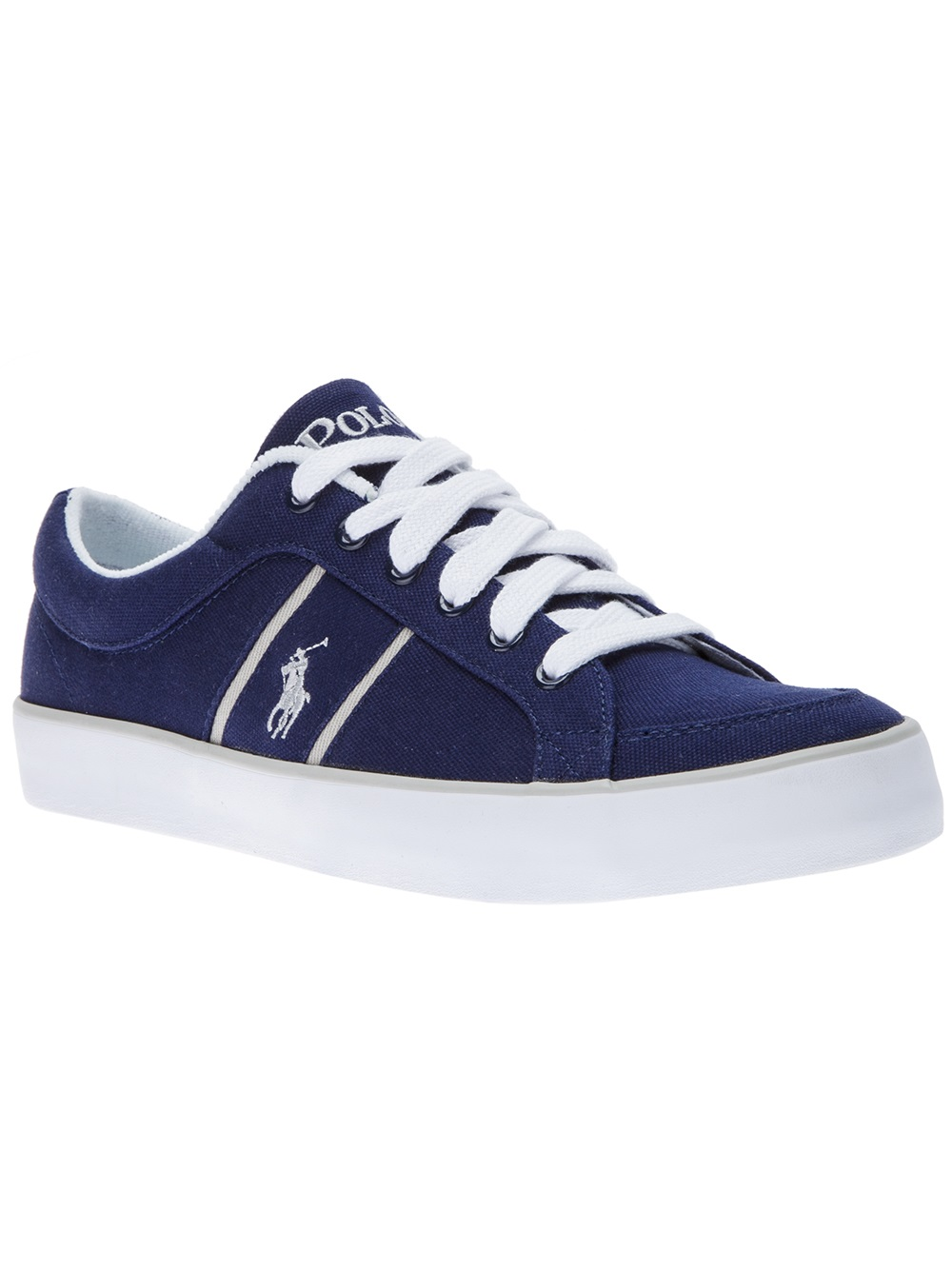 lyst polo ralph lauren bolingbrook sneaker in blue for men. Black Bedroom Furniture Sets. Home Design Ideas