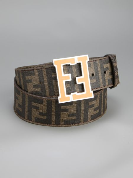 fendi monogram belt in brown tobacco lyst