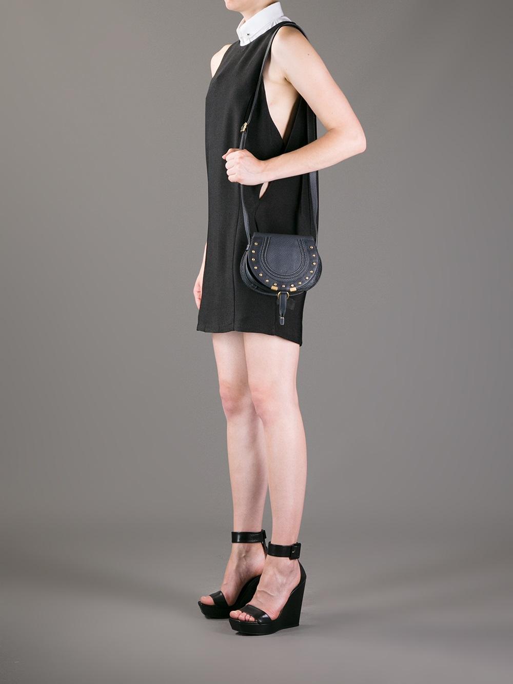 Chlo¨¦ Marcie Saddle Bag in Black | Lyst