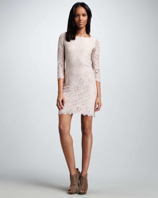 Dvf Zarita Long Lace Dress View Fullscreen