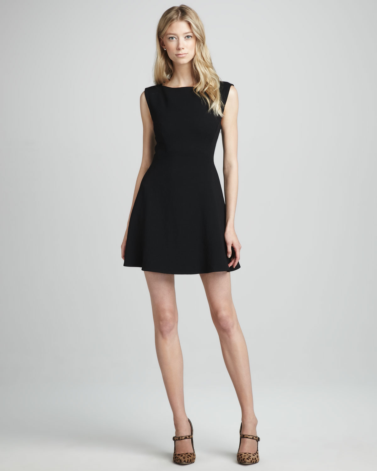 French connection ruth classic aline dress in black lyst for French connection shirt dress