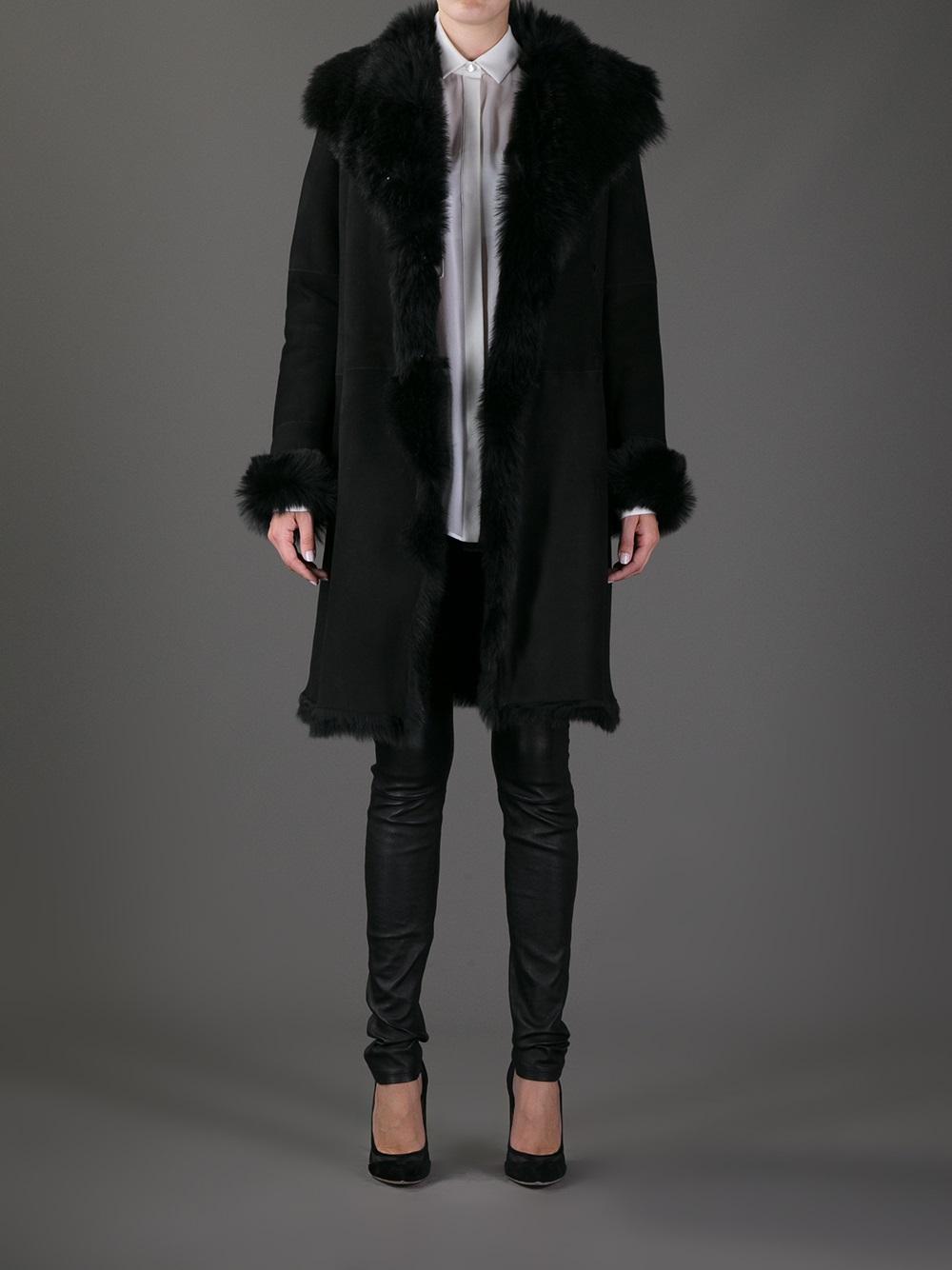 Joseph Anais Toscana Coat in Black | Lyst