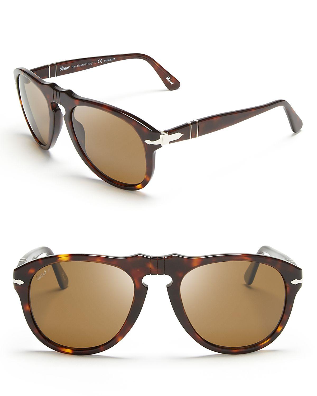 b69168e776 Persol Suprema Polarized Retro Keyhole Sunglasses in Brown for Men ...
