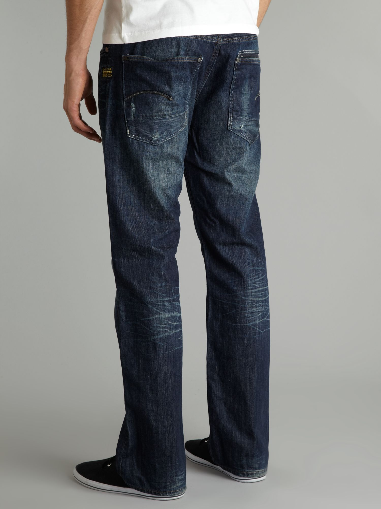 g star raw attacc straight denim jeans in blue for men lyst. Black Bedroom Furniture Sets. Home Design Ideas