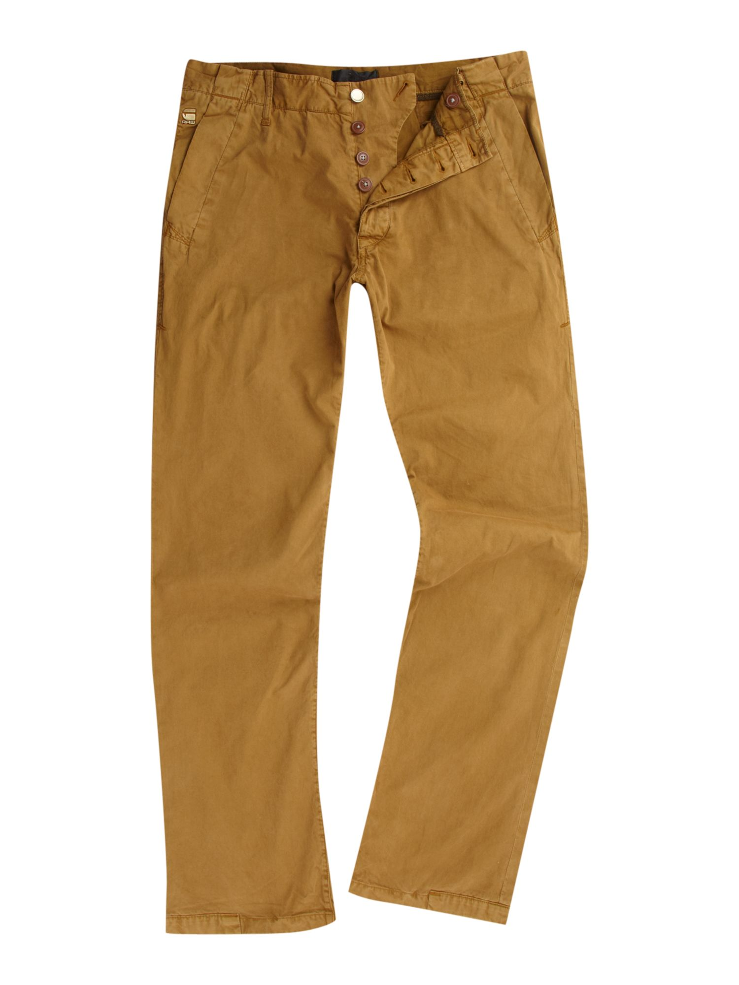g star raw new bronson tapered chino in brown for men lyst. Black Bedroom Furniture Sets. Home Design Ideas