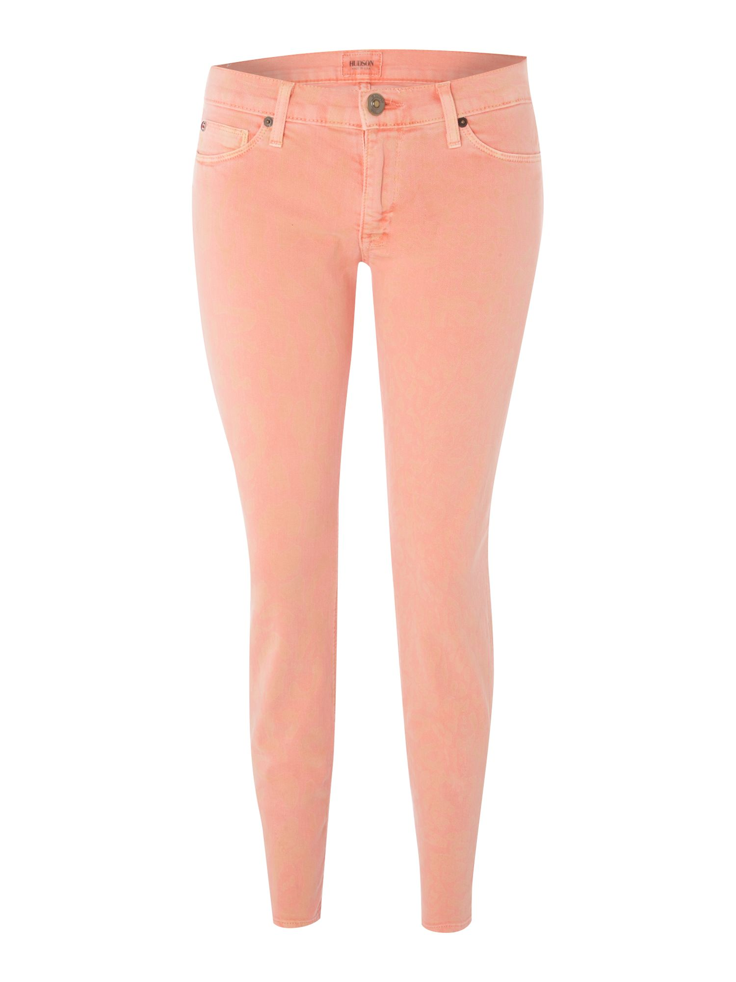 Hudson jeans Skinny Leopard Print Coloured Jeans | Lyst