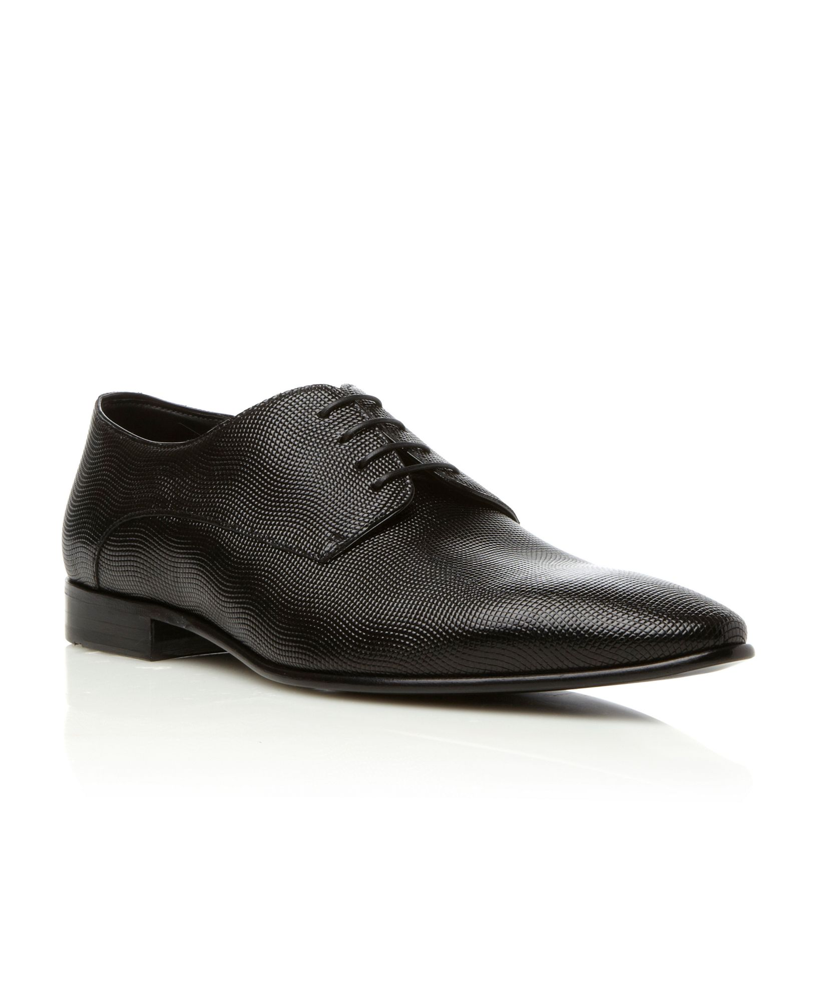 Hugo Boss Brown Derby Shoes