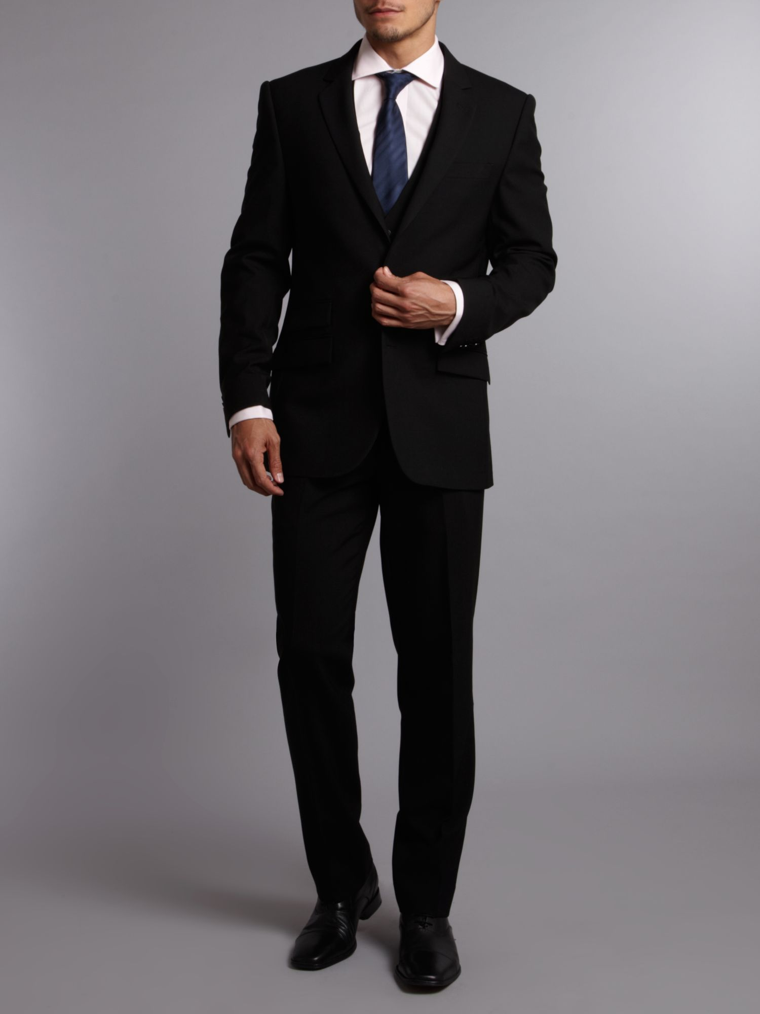 Kenneth cole Ultra Black Three Piece Suit Waistcoat in Black for ...