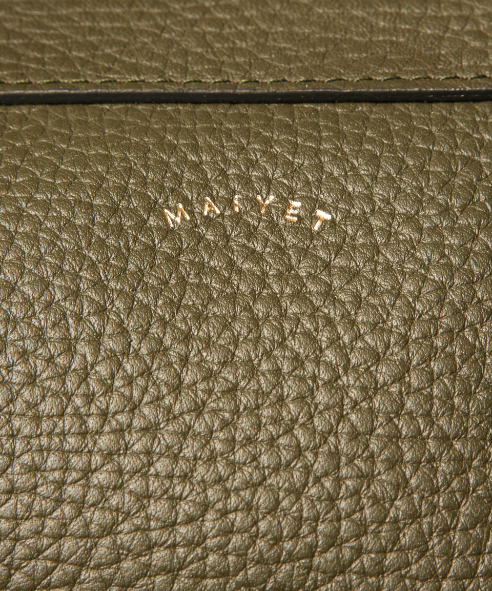 Lyst Maiyet Large Green Pebble Leather Satchel In Green