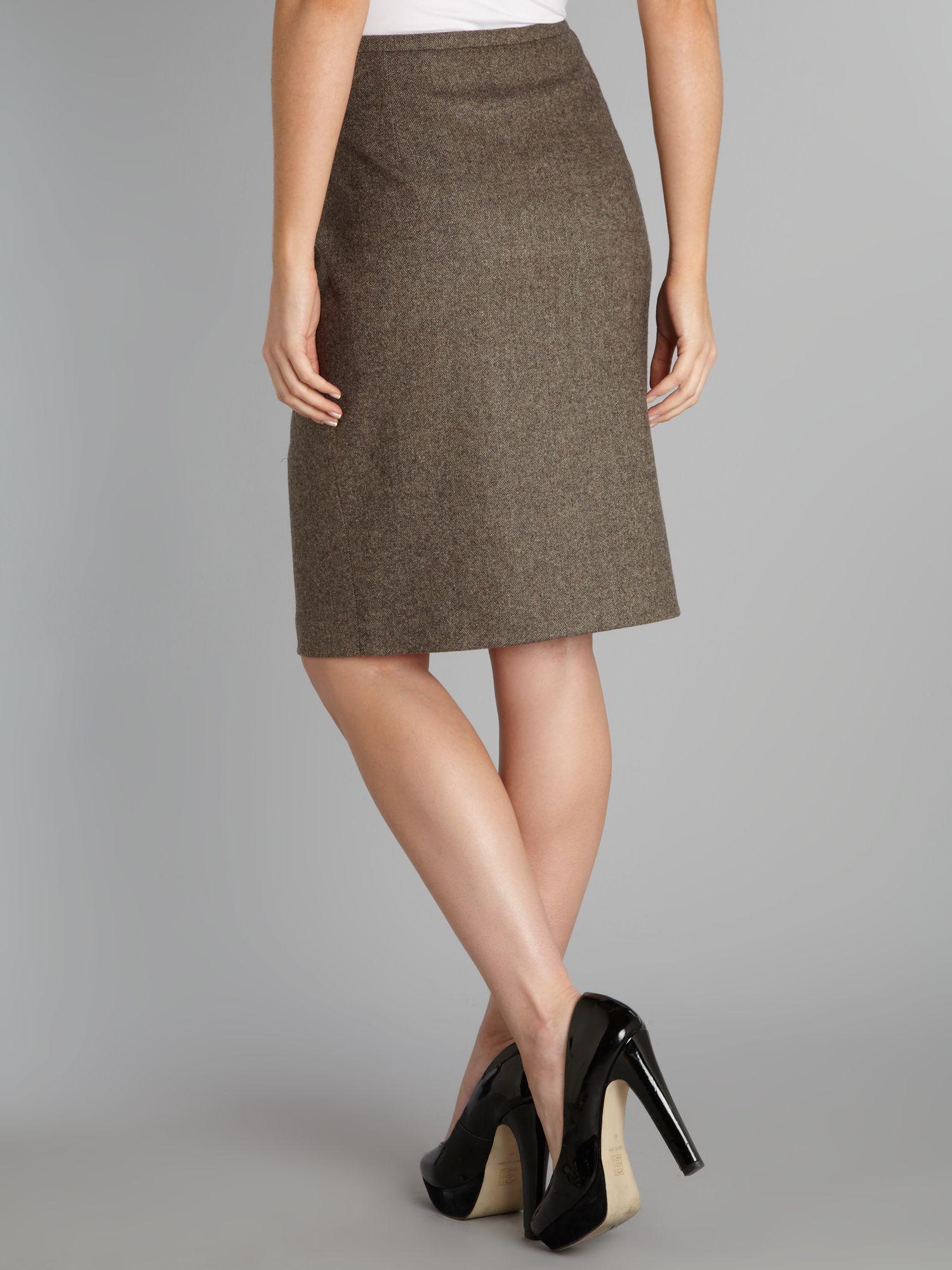 Dark Brown Pencil Skirt