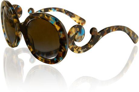 Mens Prada Sunglasses Brown Brown For Men Gold Prada