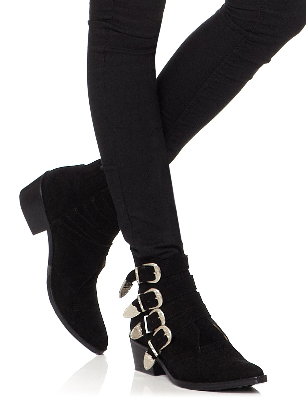 Toga pulla Black Suede Buckled Boots in Black | Lyst