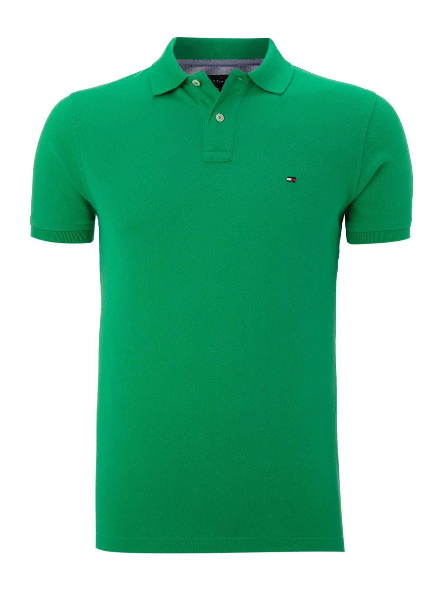 tommy hilfiger washed slim fit polo in green for men lyst. Black Bedroom Furniture Sets. Home Design Ideas