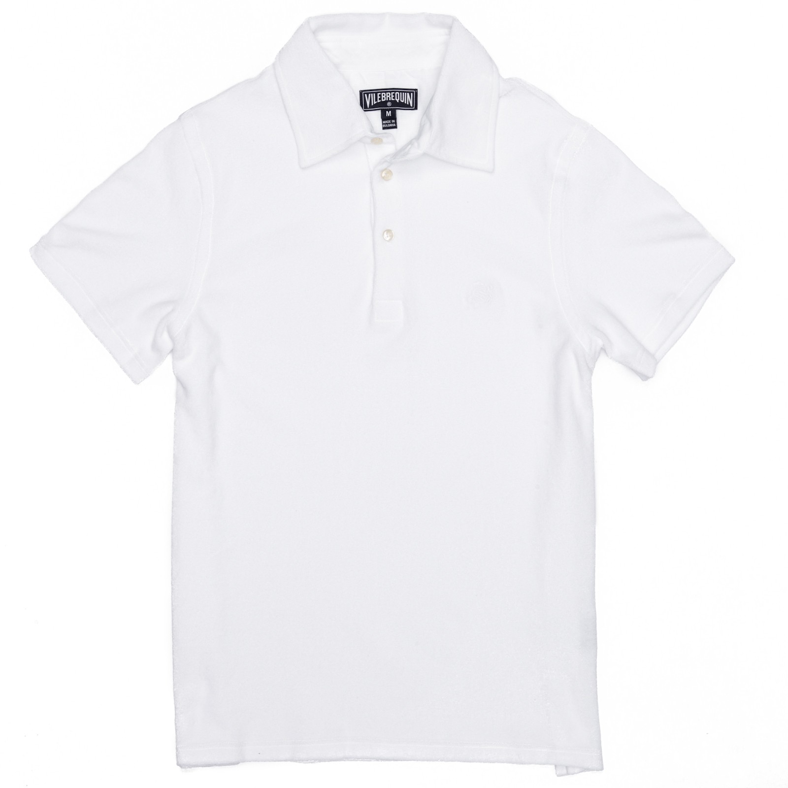 Vilebrequin terry cloth polo shirt in white for men lyst for Terry cloth polo shirt