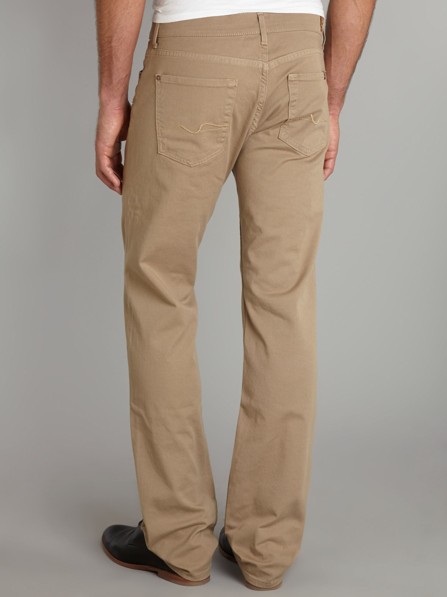 7 for all mankind Clean Drill Standard Jeans in Natural for Men | Lyst