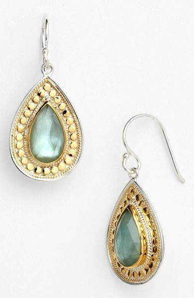 Anna Beck Gili Small Teardrop Earrings In Gold Gold
