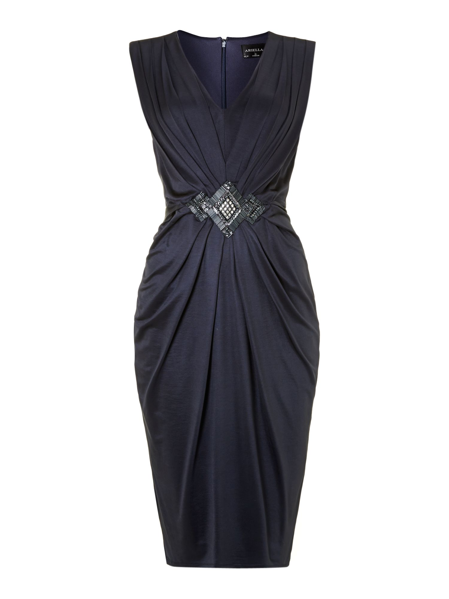 Ariella Tulip Skirt Dress In Blue Navy Lyst