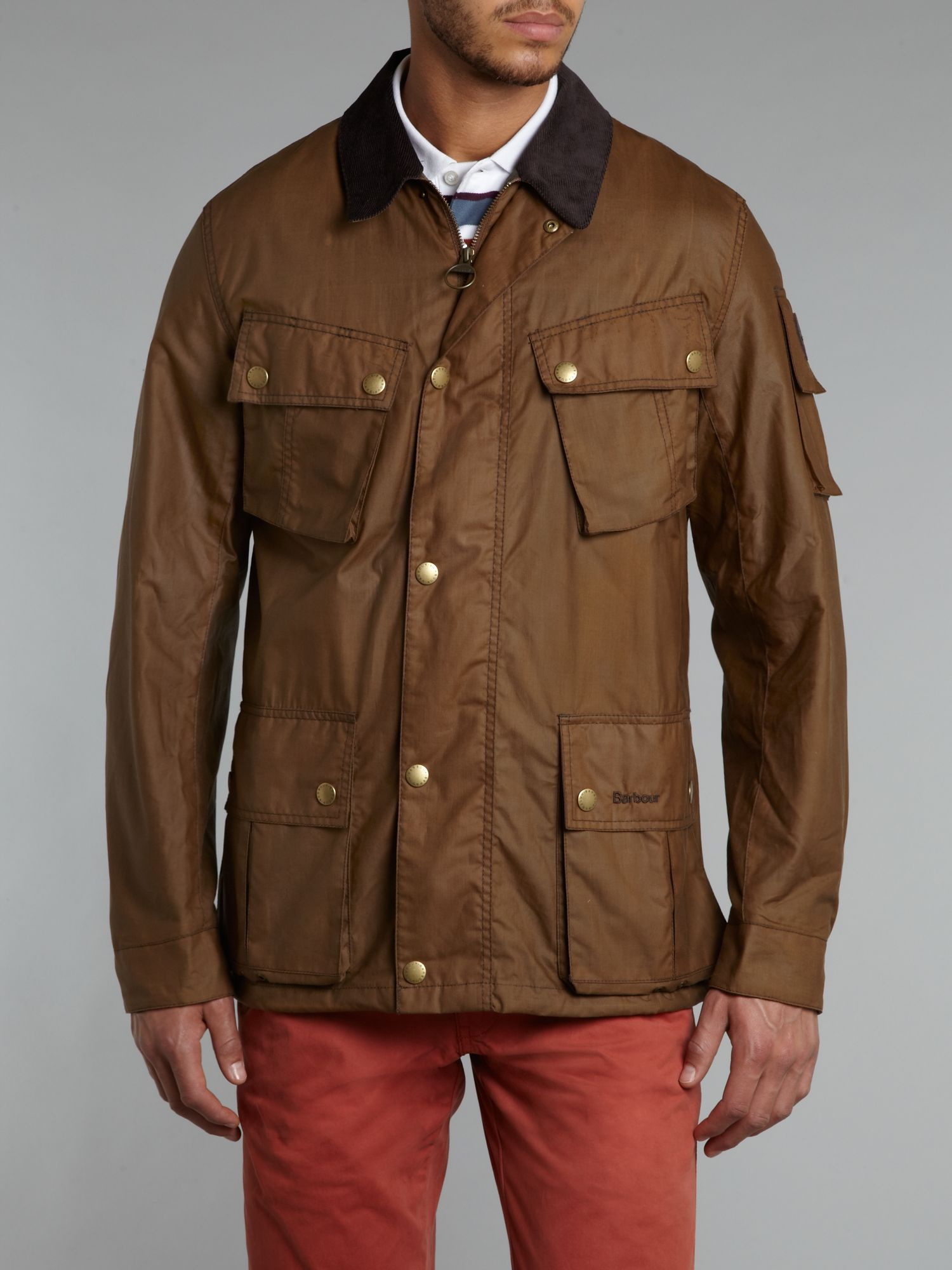 Barbour Lowland Wax Jacket in Brown for Men | Lyst