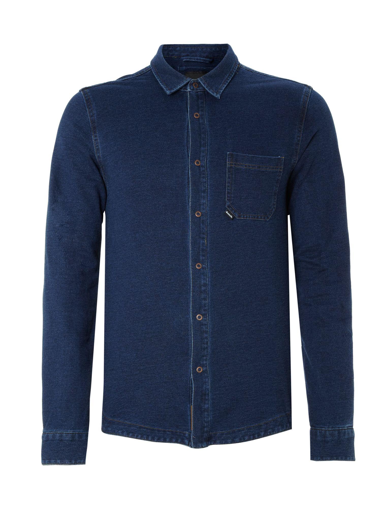 Bench Long Sleeved Denim Shirt In Blue For Men Indigo Lyst