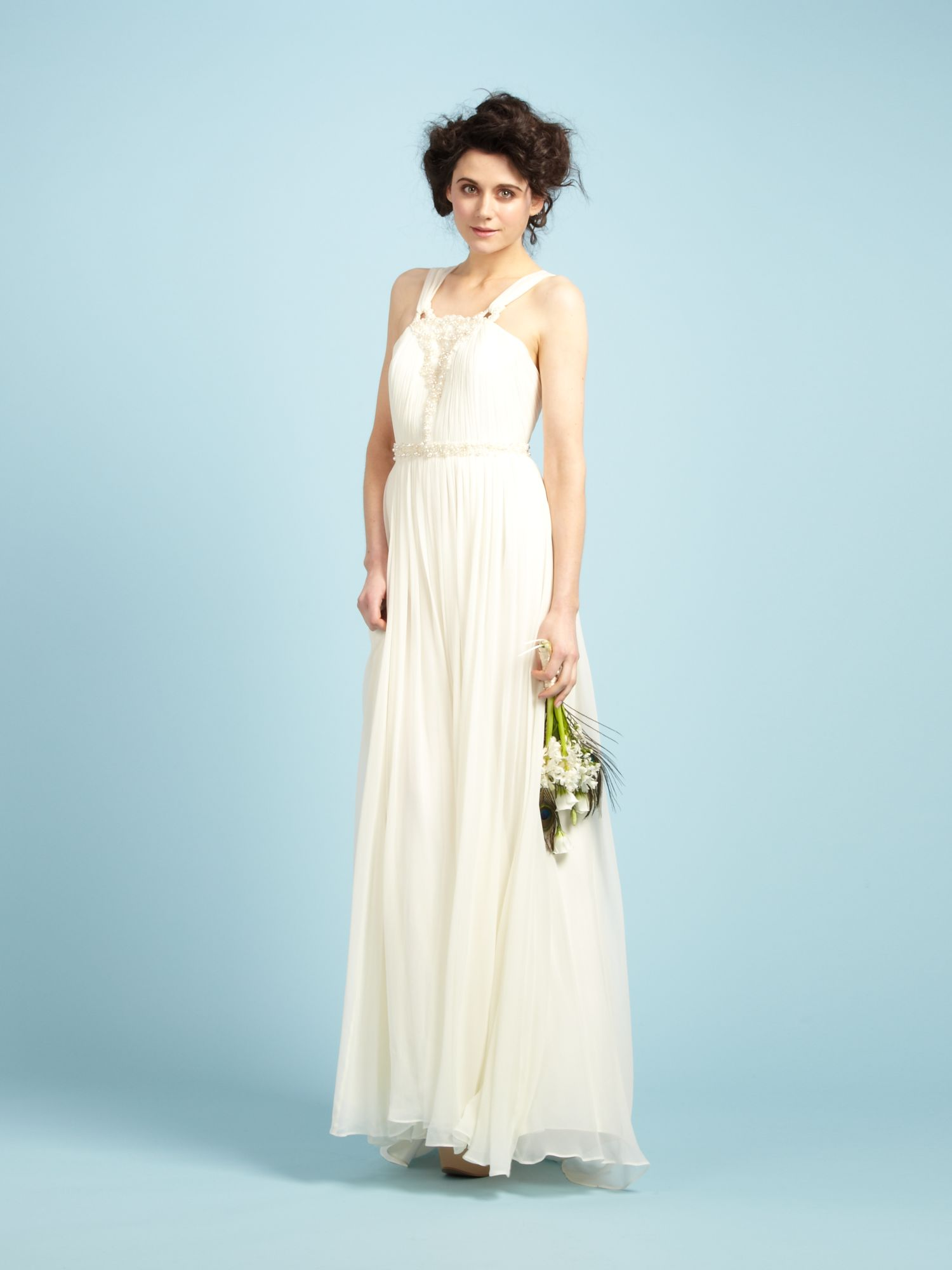 Lyst - Biba Zoe Embellished Strapped Maxi Bridal Gown in Natural