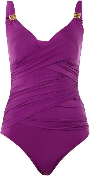 Biba Goddess Swimsuit in Purple