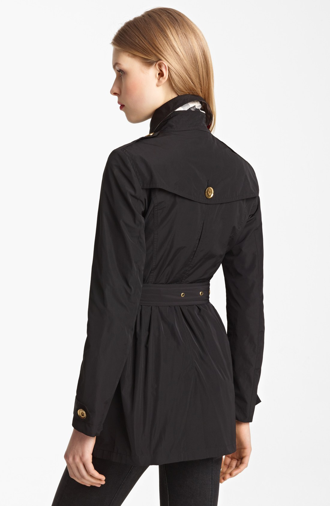burberry brit dorsleigh trench coat in black lyst. Black Bedroom Furniture Sets. Home Design Ideas