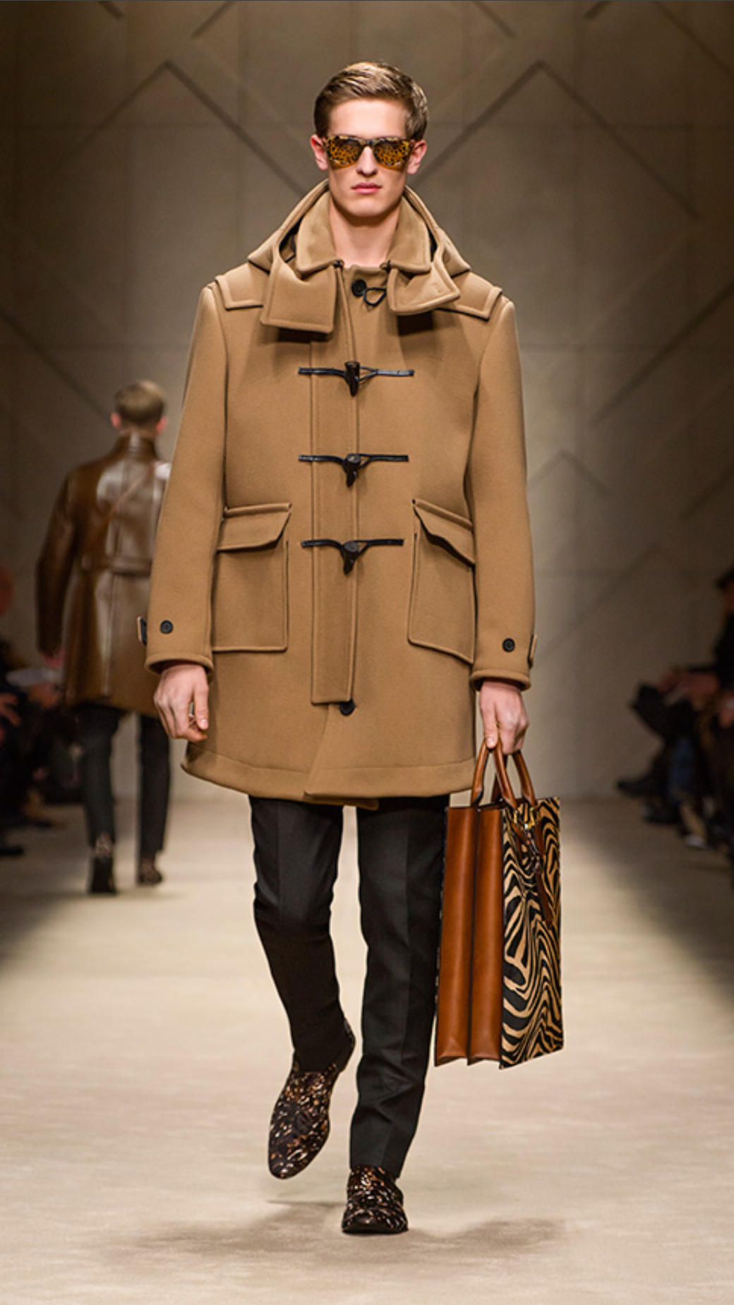 Burberry Wool Cavalry Twill Duffle Coat in Brown for Men | Lyst