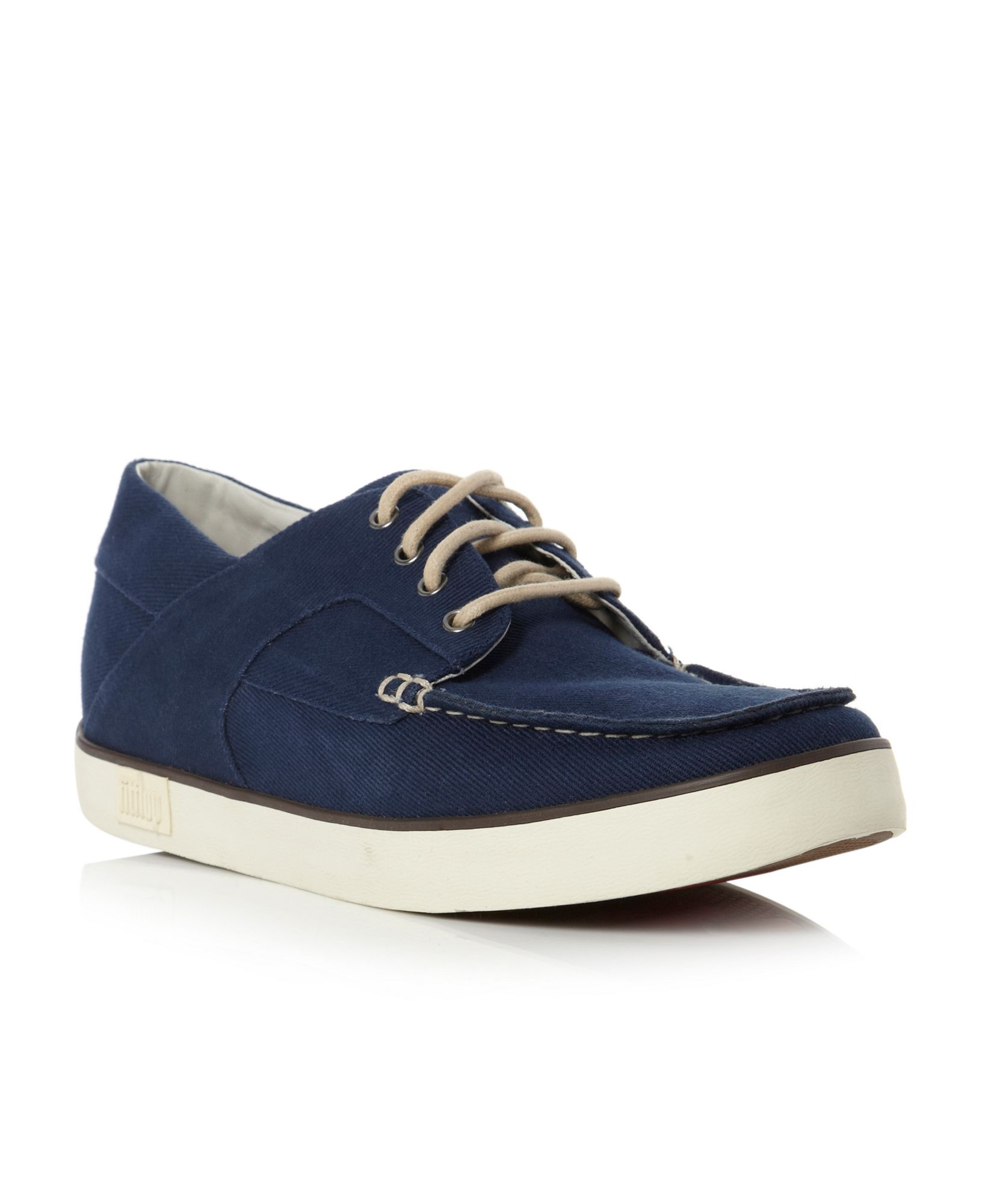 66cd5ccb995e69 Fitflop Mens Monty Canvas Boat Shoes