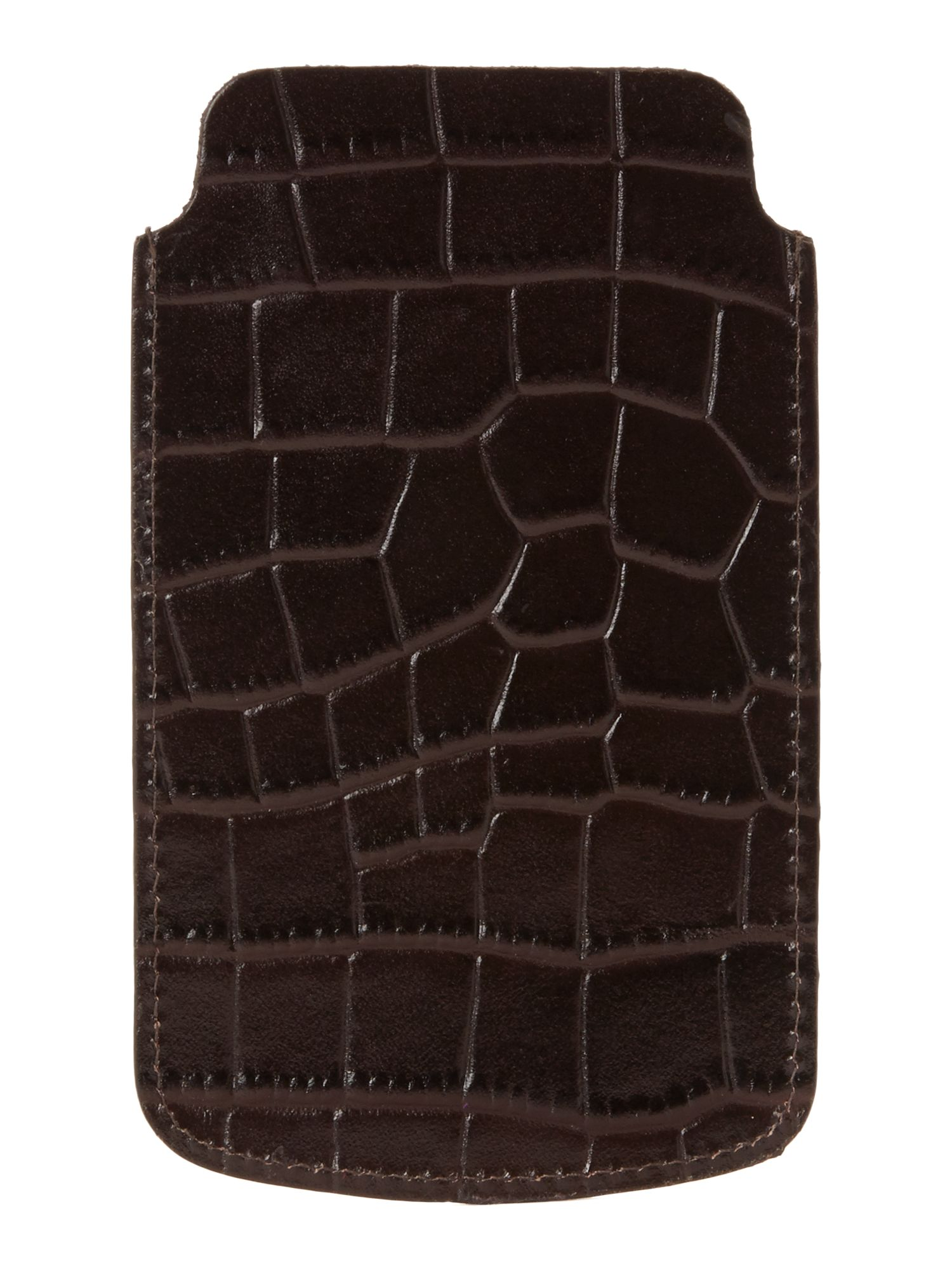 howick mock croc iphone 5 in brown for lyst