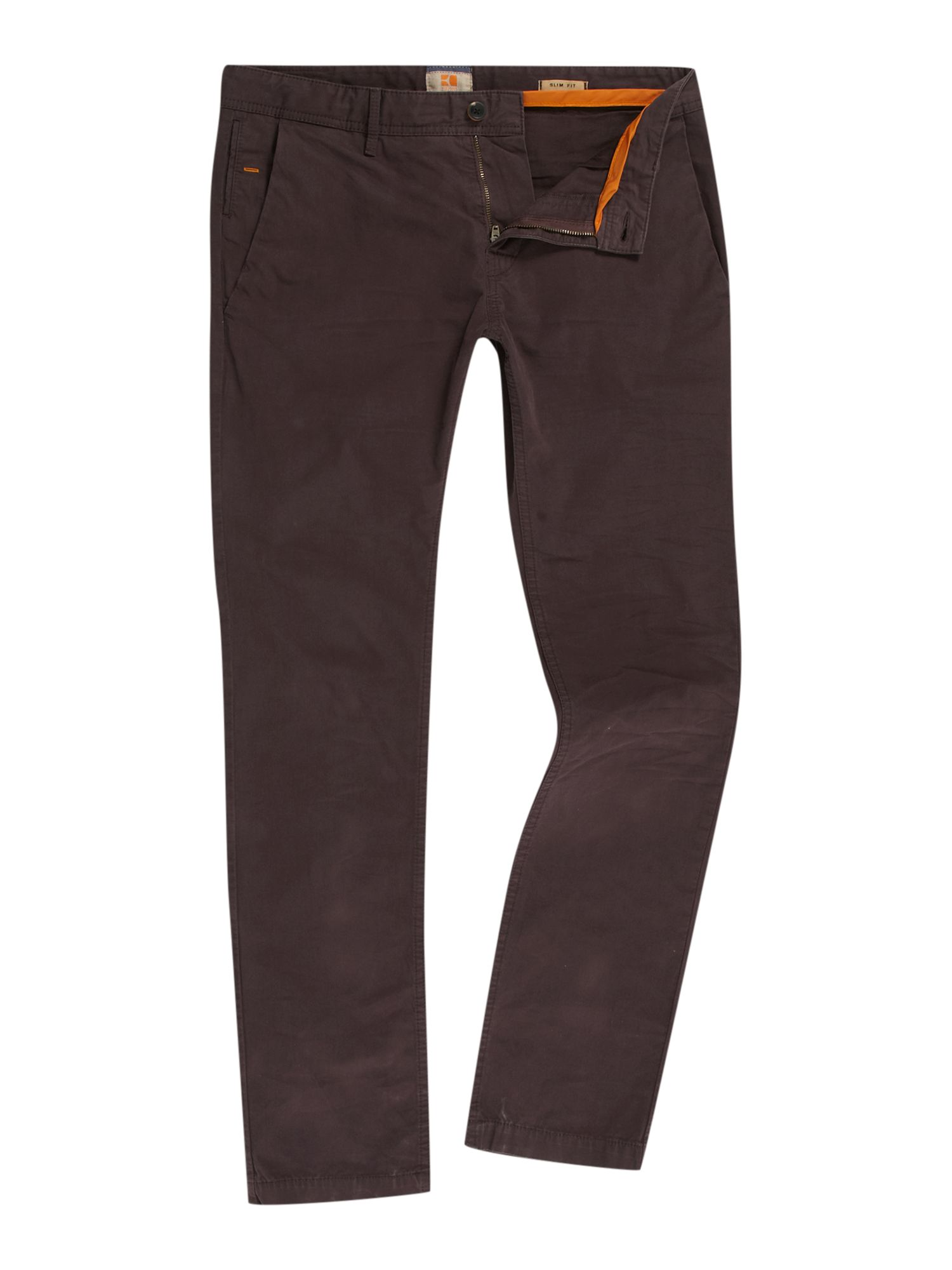hugo boss schino slim fit chino trousers in purple for men dark purple lyst. Black Bedroom Furniture Sets. Home Design Ideas