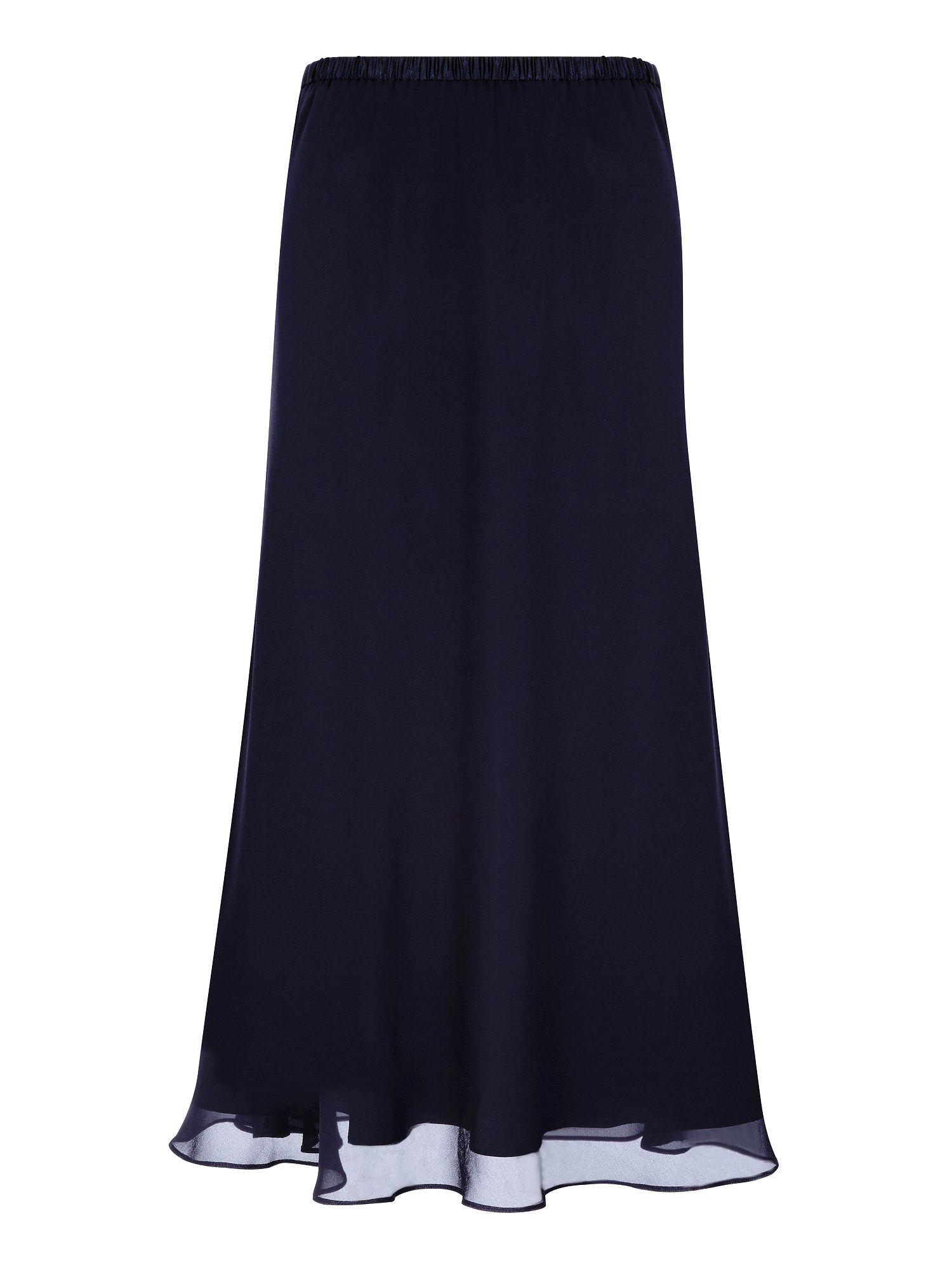 jacques vert chiffon navy skirt in blue lyst