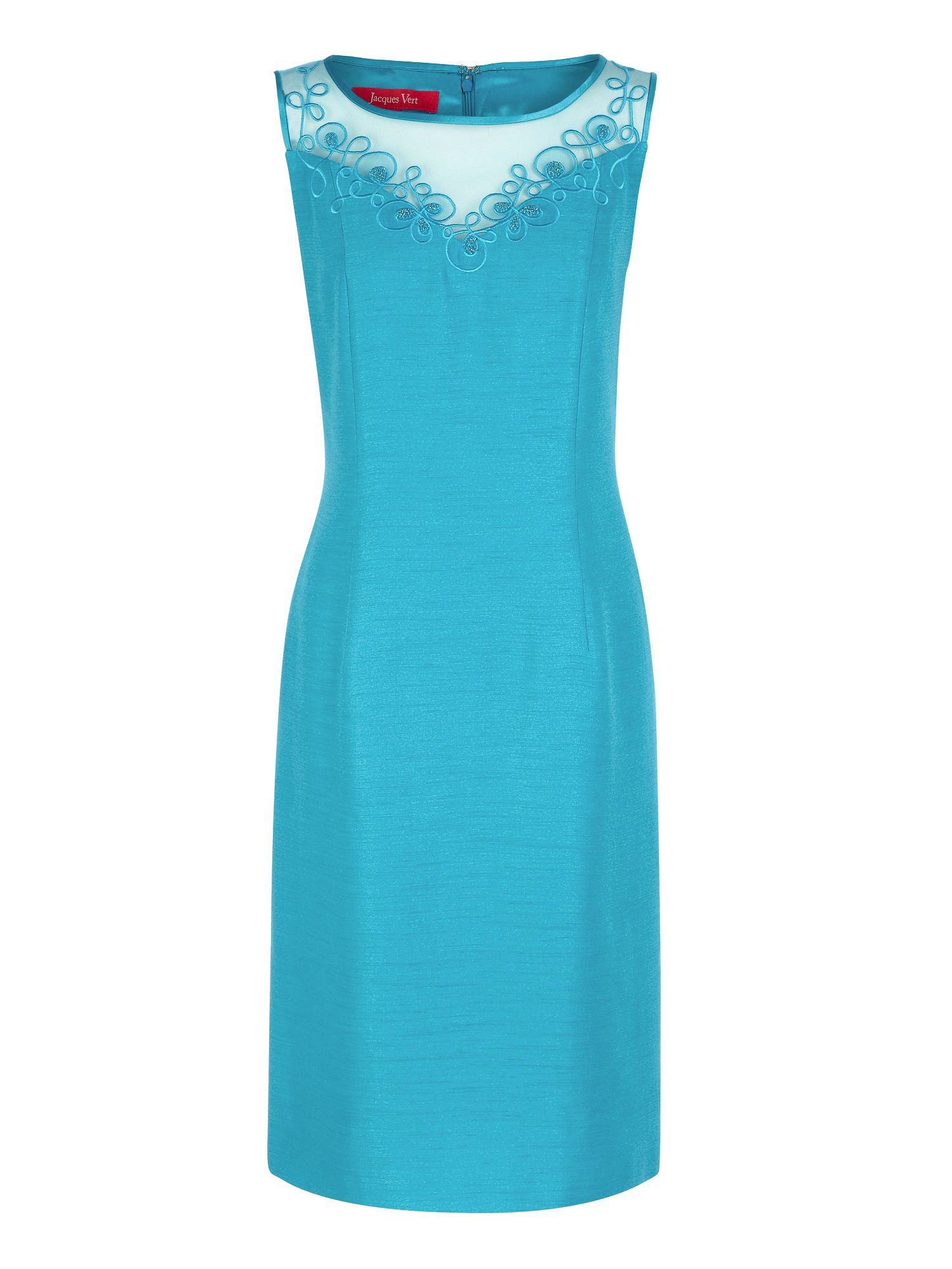 Jacques Vert Turquoise Embellished Shift Dress In Blue Lyst