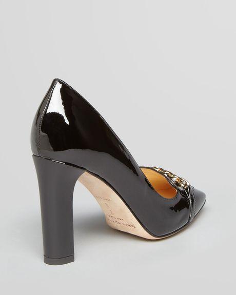 Kate Spade Square Toe Pumps Hattie High Heel In Black Lyst