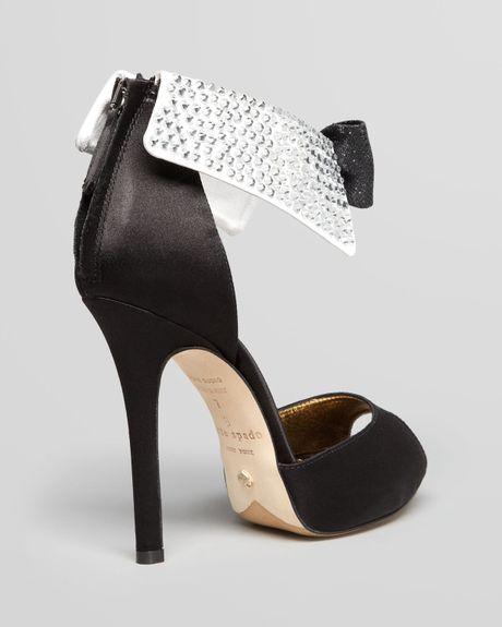 Kate Spade Peep Toe Evening Sandals Black Tie High Heel In