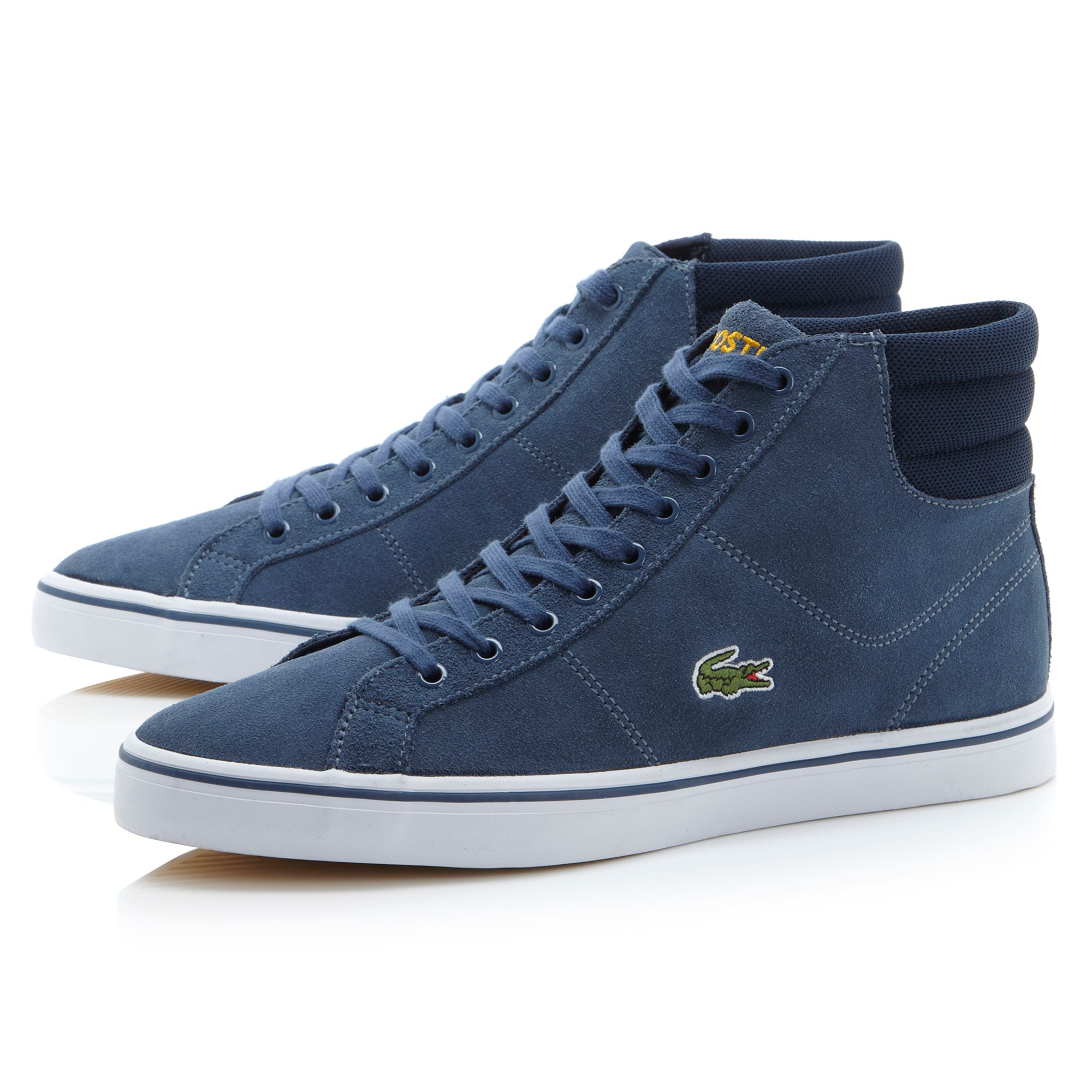 Blue Polo High Top Shoes