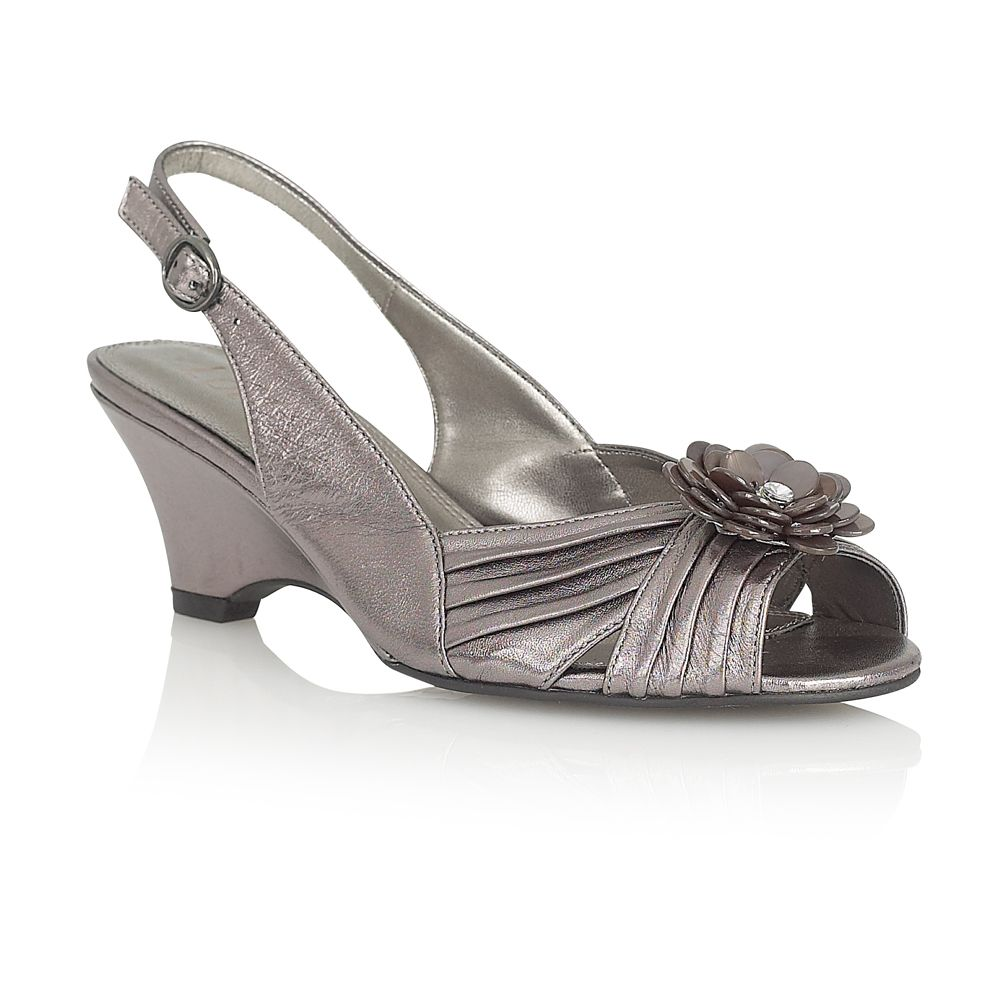 lotus valara formal shoes in gray pewter lyst