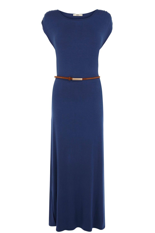 oasis tshirt maxi dress in blue denim lyst. Black Bedroom Furniture Sets. Home Design Ideas