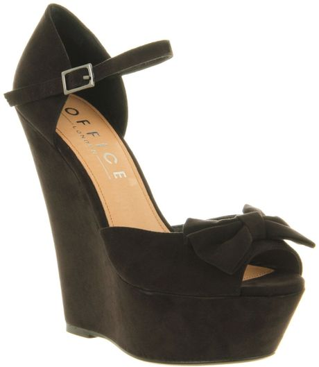 office out all platform wedge shoes in black lyst