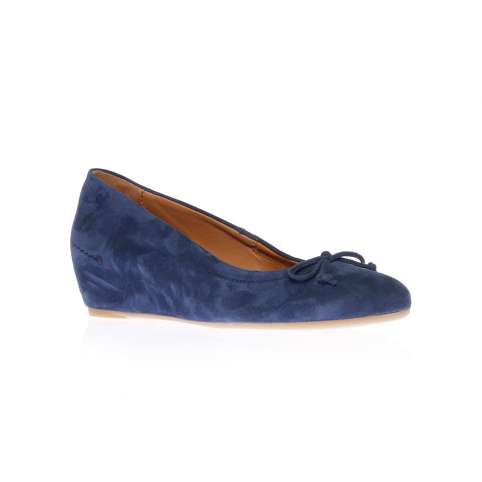 paul green puk low wedge shoes in blue lyst