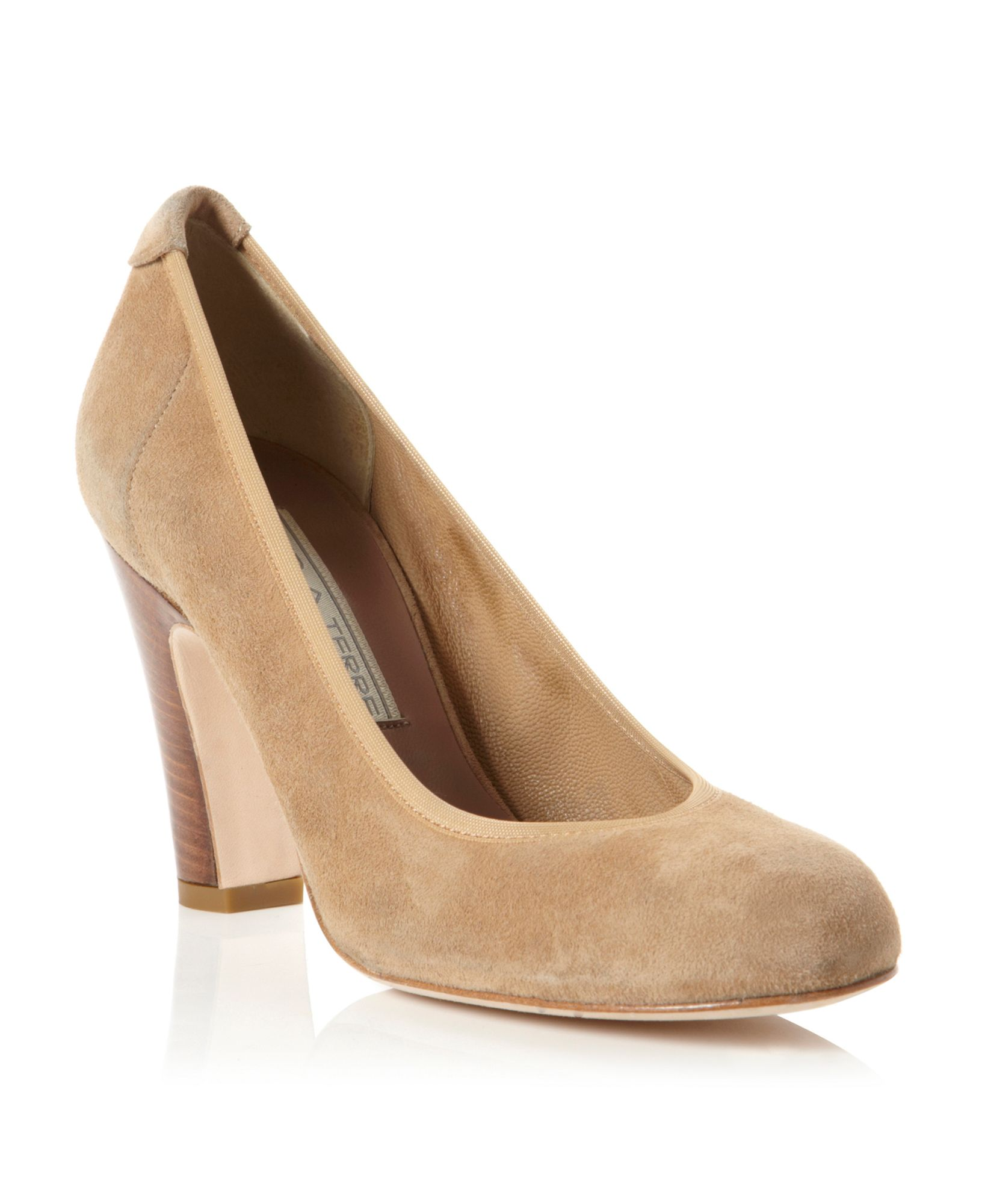 Pied A Terre Abha Round Toe Elasticated Court Shoes In