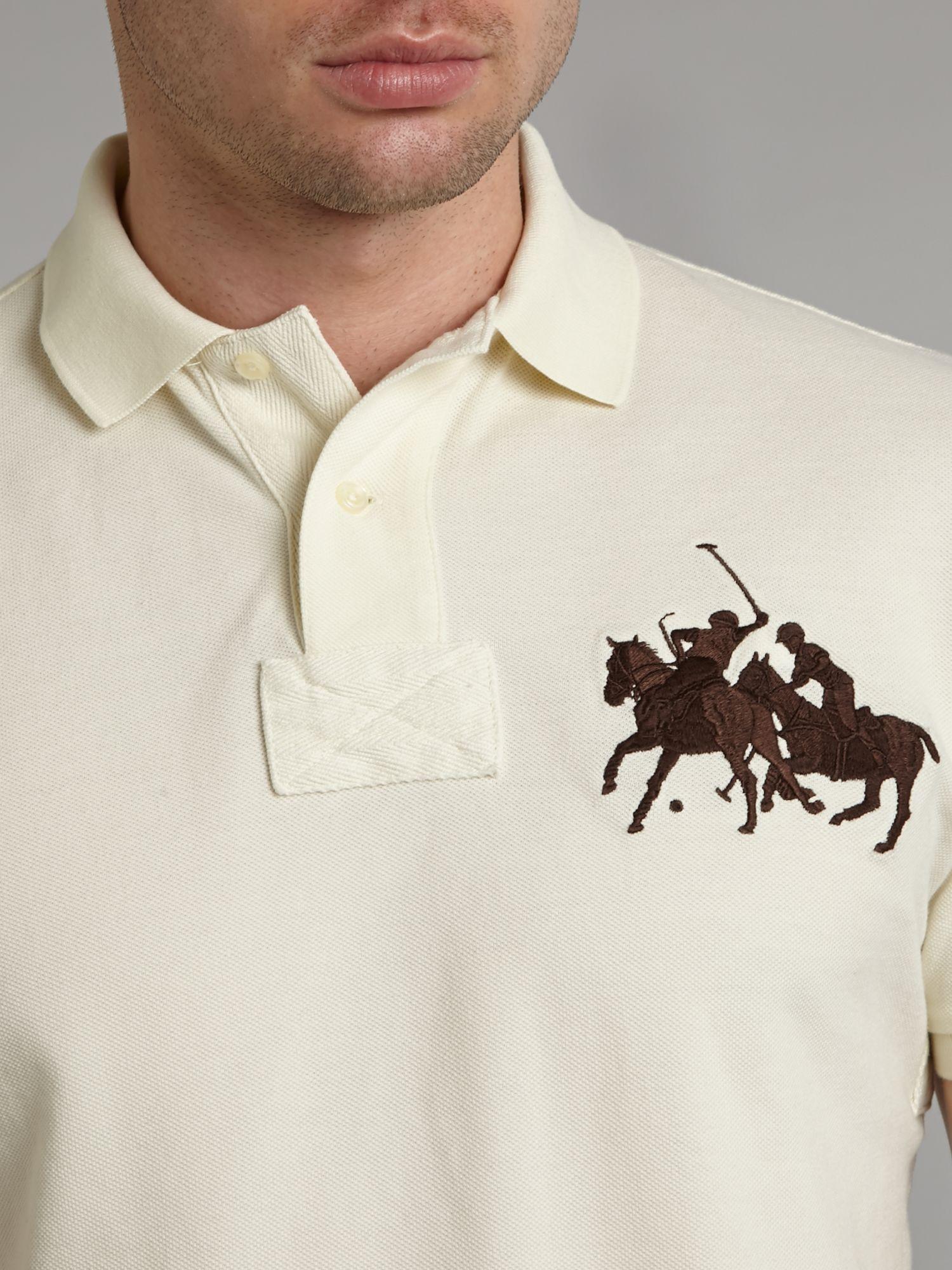 Ralph Lauren Men Classic Dual Mach Navy Short Sleeved Polo