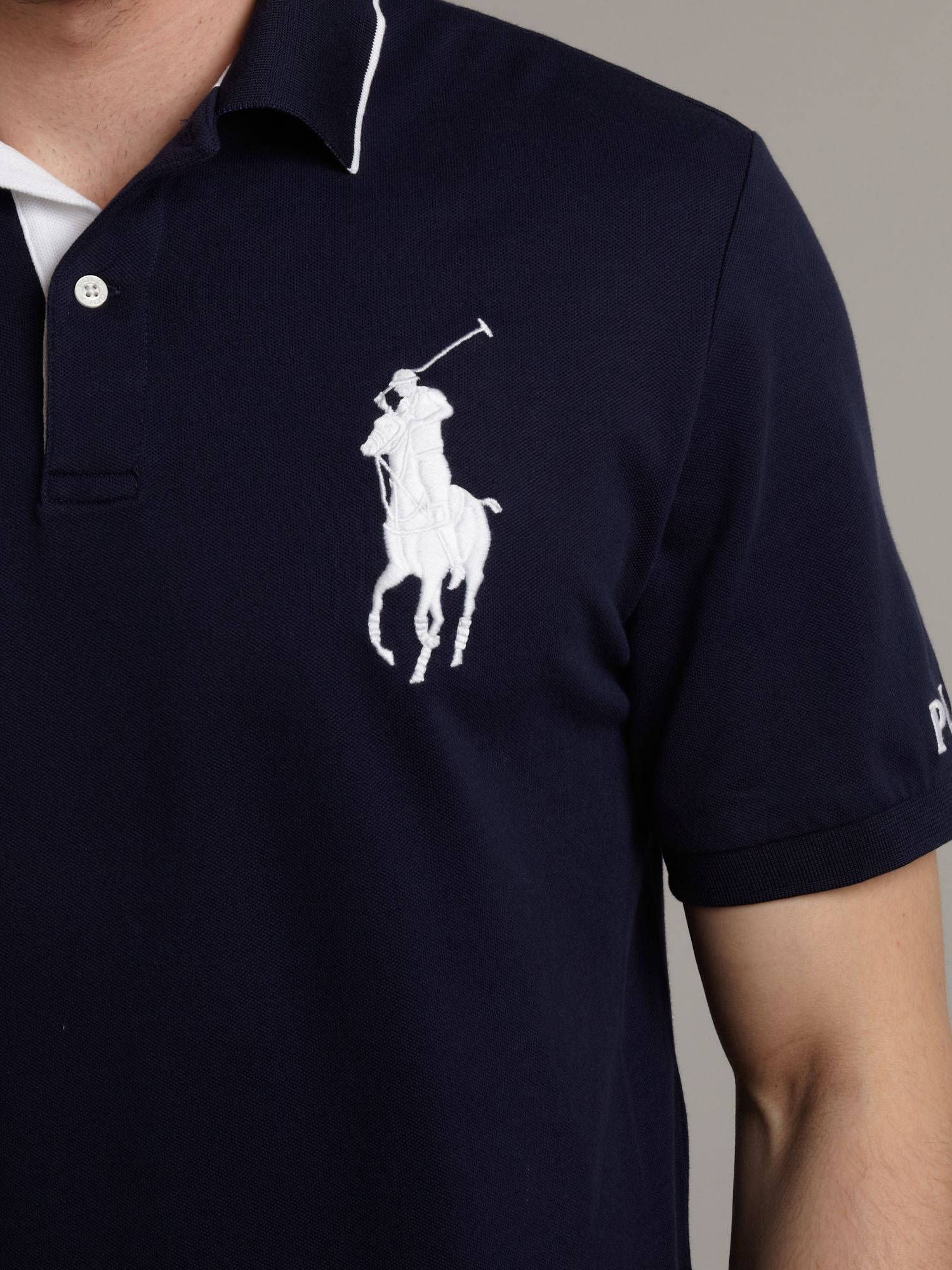 ralph lauren golf open classic big pony polo shirt in blue. Black Bedroom Furniture Sets. Home Design Ideas